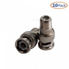 ZHAOYAO 10-Pack F Female to BNC Male Coax RF Connector RG6 RG59 Adapter