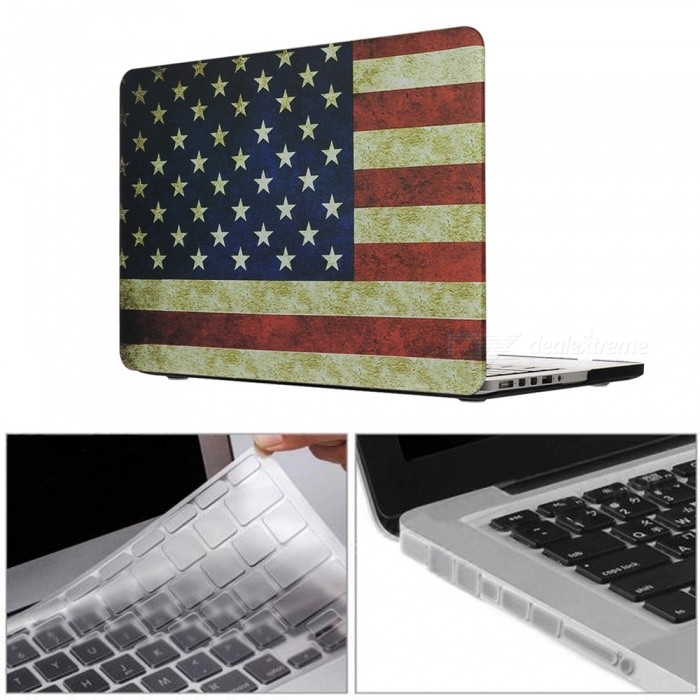 "Dayspirit 3 in 1 Printing Case + Keyboard Cover + Anti-dust Plugs for MacBook Pro 13.3"" with Retina Display A1425/A1502"