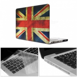Dayspirit Printing Case + Keyboard Cover + Anti-dust Plugs for MacBook Pro 15.4 inch with CD-ROM (A1286) - British flag