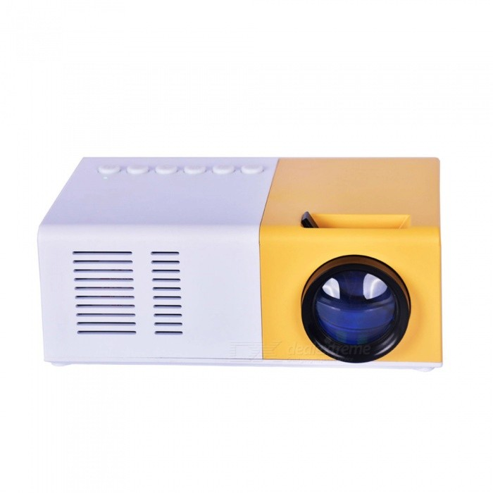 JEDX  Mini Projector LCD HDMI USB Portable Projector For Home Office - EU plug