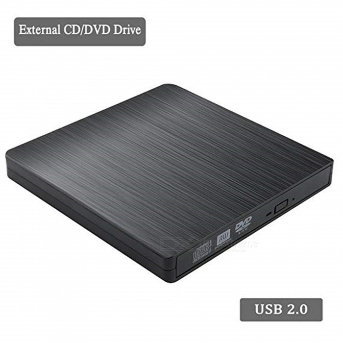 External CD/DVD Drive for Laptop USB CD Burner, Portable USB 2.0 High Data Transfer Speed Slim Optical CD ROM Drive No Need Inst