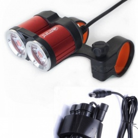 ZHISHUNJIA TXA2 DC4.2-8.4V XML T6 LED 1400lm 4-Mode White Bike Light Headlamp Red
