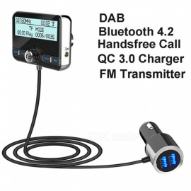 DAB002 DAB Digital Radio Receiver FM Tuner Radio Car Bluetooth 4.2 Transmitter Adapter FM DAV/DAB Tuner Broadcasting