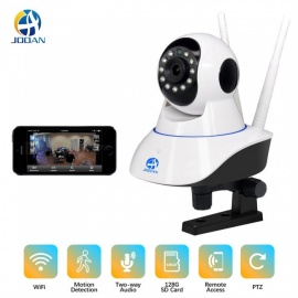 JOOAN Wireless IP Security Camera Indoor Camera with Motion Detection Night Vision 2-Way Audio Pan/Tilt/Zoom