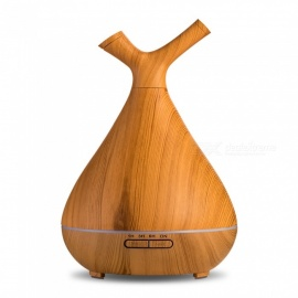 JEDX New Wooden Aromatherapy Diffuser Mini Smart Humidifier 400ml US Plug