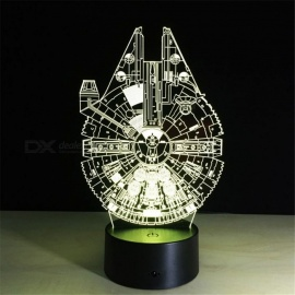 Millennium Falcon Pattern 7-color Changing USB 3D LED Nightlight