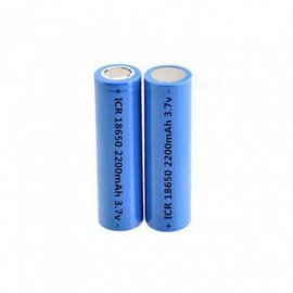 ICR 18650B 3.7v 2200mah 18650 Lithium Rechargeable Battery For Flashlight Batteries