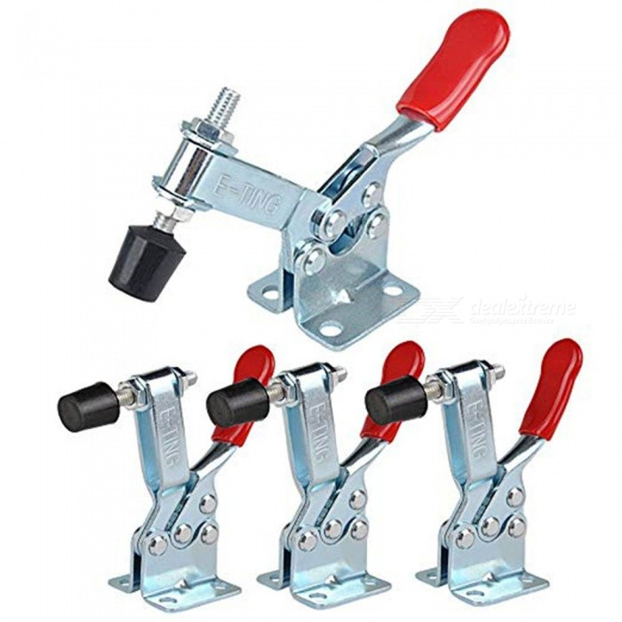 ZHAOYAO-4Pcs-Hand-Tool-Toggle-Clamp-201B-Antislip-Red-Horizontal-Clamp-201-B-Quick-Release-Tool