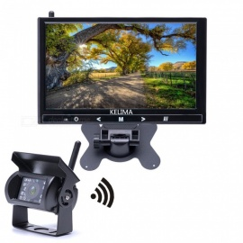 KELIMA 9 Inch Wireless Car Monitor + Wireless Infrared Night Vision Bus Reversing Camera Free Wiring HD Resolution Display