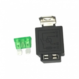 ZHAOYAO Automotive Relays Self-Contained Insurance Chip DC 12V/24V 4 Feet 30A Is a Good Choice For Your Replacement