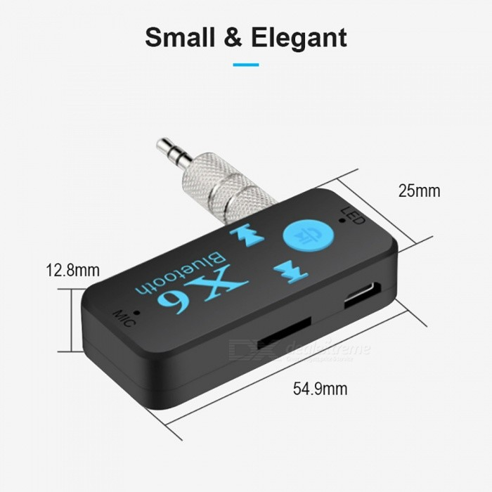 Measy Wireless Bluetooth 4.0 Adapter 3 in 1 USB Receiver 3.5mm Audio Jack TF Card Reader MIC Call Support For Car Speaker
