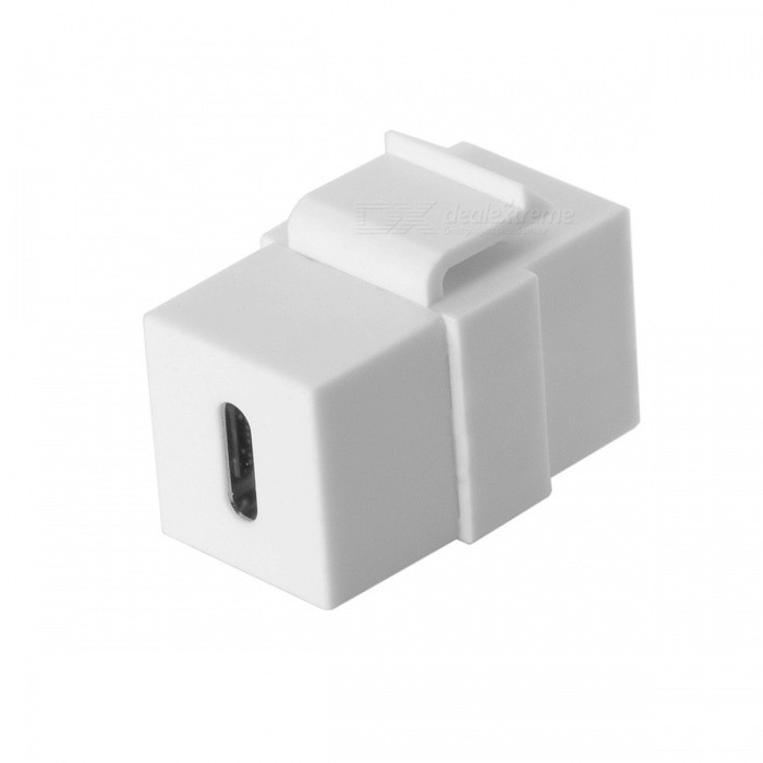 CY UC-091-WH USB-C Type-C Female to Female Extension Keystone Jack Coupler Adapter