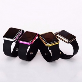 Fashionable Square LED Digital Sports Watch, Waterproof LED Wrist Watch Gold