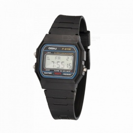 Multi Function Student Sport Rubber Watch Fashion Digital Wristwatches Black