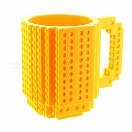ZHAOYAO 350ml Creative Milk Mug Coffee Cup Creative Build-on Brick Mug Cups Drinking Water Holder for LEGO Building Blocks