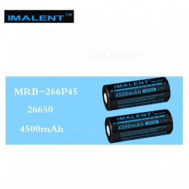 IMALENT 2Pcs 26650 4500mAh MRB-266P45 3.7v Li-ion Rechargeable Battery High Performance for High Drain LED Flashlight