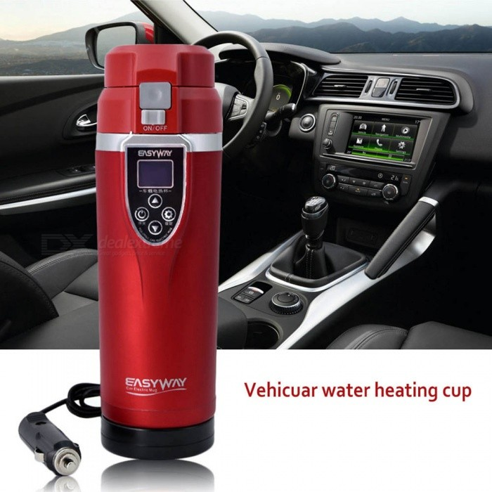 ESAMACT 350ML Auto Car Heating Cup Adjustable Temperature Car Boiling Electric Kettle Boiling Vehicle Thermos Car Accessories