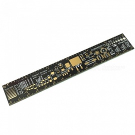 ZHAOYAO PCB Ruler PCB Multi-purpose Engineering Ruler PCB Package Unit Engineering Ruler 15CM Immersion Gold Process