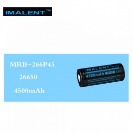 IMALENT 1PCS 26650 4500mAh MRB-266P45 3.7v Li-ion Rechargeable Battery High Performance for High Drain LED Flashlight