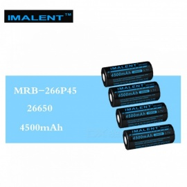 IMALENT 4Pcs 26650 4500mAh MRB-266P45 3.7v Li-ion Rechargeable Battery High Performance for High Drain LED Flashlight