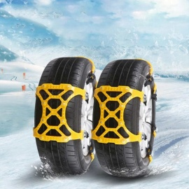 ESAMACT Winter Car Snow Tire Anti-skid Wheel Chains 165 - 265 mm Thickened Tire Wheel TPU Chain for Snow Mud Road