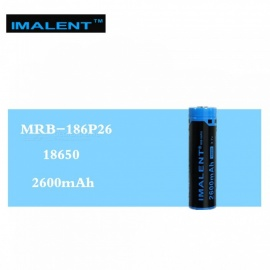 IMALENT 1PCS MRB-186P26 18650 2600mAh 3.7V Li-ion Rechargeable Battery High Performance for High Drain LED Flashlight