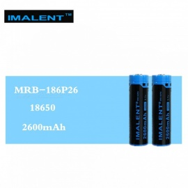 IMALENT 2Pcs MRB-186P26 18650 2600mAh 3.7V Li-ion Rechargeable Battery High Performance for High Drain LED Flashlights
