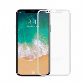 SZKINSTON iPhone XR 5D 9H Silk Nano-Technology Forming Tempered Glass Full Touch Screen Protector Film - White