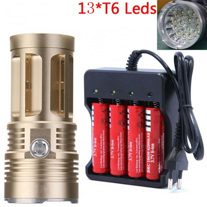 US 18650 Battery Charger DX T6 LED 8000 Lumens Flashlight 3 Modes Camping Light