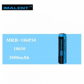 IMALENT 1 Pcs MRB-186P30 3.7V 3000mAh 15A Li-ion Batteries Rechargeable Battery High Performance for High Drain LED Flashlights