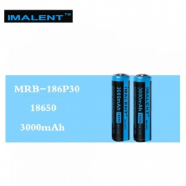 IMALENT 2 Pcs MRB-186P30 3.7V 3000mAh 15A Li-ion Batteries Rechargeable Battery High Performance for High Drain LED Flashlights