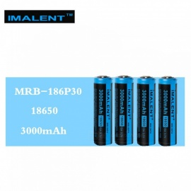 IMALENT 4 Pcs MRB-186P30 3.7V 3000mAh 15A Li-ion Batteries Rechargeable Battery High Performance for High Drain LED Flashlights