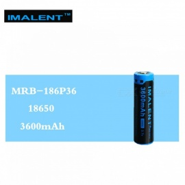 IMALENT 1PCS 3600mAh MRB-186P36 3.7V Li-ion Rechargeable Battery High Performance High Quality for High Drain LED Flashlight