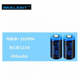 IMALENT 1PCS 16340 650mAh RCR123A 3.7V Li-ion MRB-163P06 Rechargeable Battery High Performance for High Drain LED Flashlights