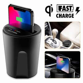 Measy Wireless Charger Cup Qi Charging Pad with USB Output for iPhone 8 iPhoneX Samsung Galaxy S8 S7 S6 Edge