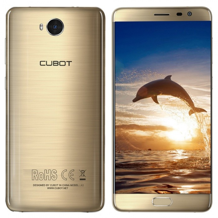"CUBOT A5 Android 8.0 4G Phone w/ 5.5"", 3GB RAM, 32GB ROM - Gold"