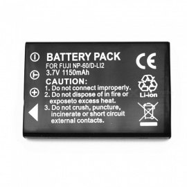 Suitable for Fuji Camera Battery NP-60 Full Decoding 1150mAh Lithium Battery Black