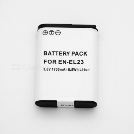 Suitable for Nikon Camera Battery EN-EL23 Full Decoding 1700mAh Lithium Battery White