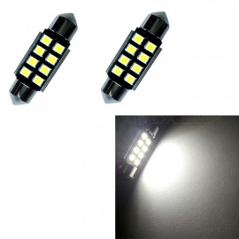 HONSCO Festoon 36mm 8SMD 2835 6500K 1W Canbus Reading Lamp White (2PCS)