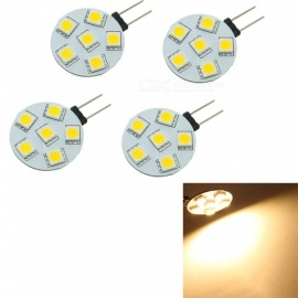 4PCS G4 1W Insert LED Light Source Module Warm White  3000K 6-SMD 5050 Car Marine Camper RV led Light Lamp Bulb