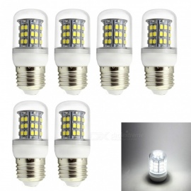 HONSCO 6PCS E27 6W LED Corn Bulb Cold White Light 6000K 48-SMD Low Voltage AC/DC 12V 24V