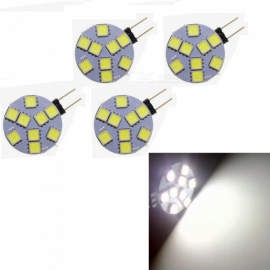 HONSCO 4PCS G4 1W Insert LED Light Source Module White 6000K 9-SMD 5050 Car Marine Camper RV LED Light Lamp Bulb