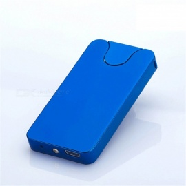 MAIKOU USB Electronic Rechargeable Cigarette Lighter with Charging Cable - Mirror blue