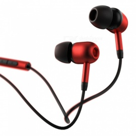 Benks E02 In-ear Sport HIFI Sound Earphones with 3.5mm Plug Red+Black Color