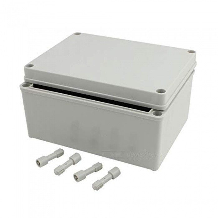 ZHAOYAO-200mm-x-150mm-x-100mm-Dustproof-IP65-Junction-Box-DIY-Case-Enclosure-Gray