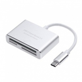 3 in 1 USB C to CF/SD/TF Card Readers Type C OTG Hub for Macbook Phone and USB-C Devices Super Speed USB-C 3.0 Card Reader