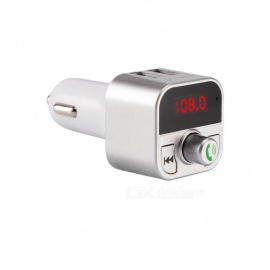Quelima New B5 Car Bluetooth FM Transmitter Dual USB Car Transmitter, with Display
