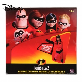 Disney Pixar The Incredibles Costume For The 14-year-old Girls And Up W/1 PC Mask, Belt And 1 Pair Of Gloves Red/One Size