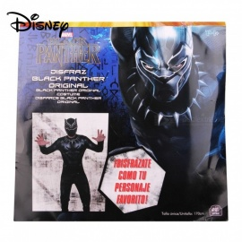 Disney Captain America Black Panther Costume For The 14-year-old Boys And Up W/1 PC Mask Black/One Size