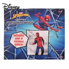 Disney Spiderman Costume For The 14-year-old Boys And Up W/1 PC Mask Red/One Size